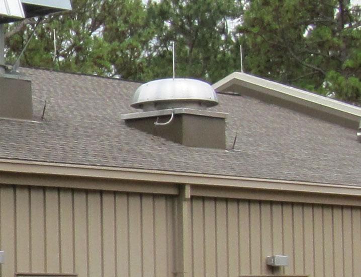 Gravity Relief Ventilators Spun Aluminum Hooded