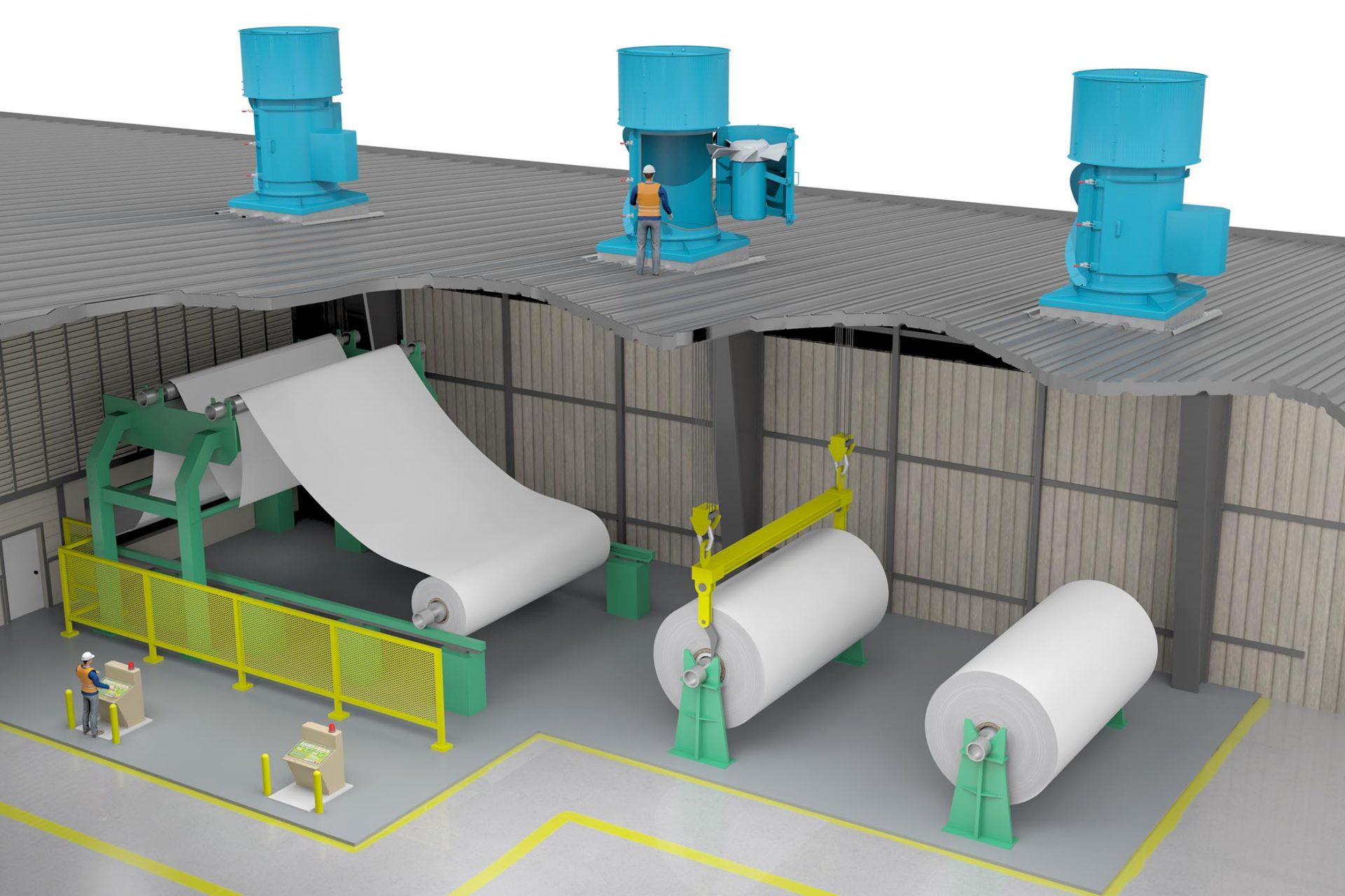 TCTA Paper Mill Axial Swingout (TCF) Modo Rendering