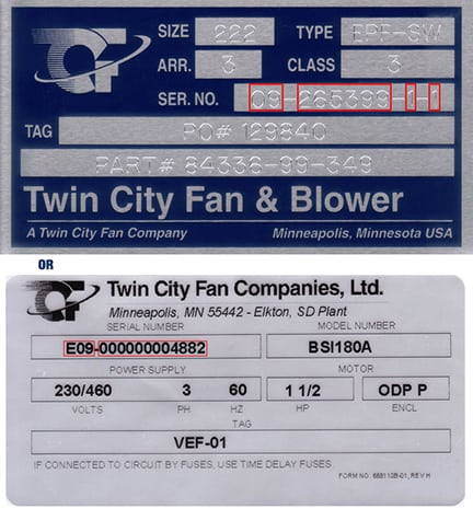 Parts & Service   Twin City Fan and Blower